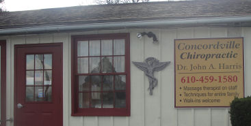 Concordville walk-in chiropractic clinic, Dr. John A. Harris, (610) 459-1580